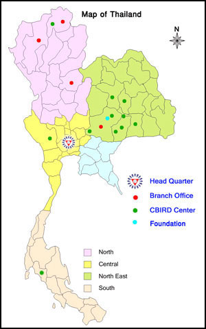 Map of PDA Centers in Thailand PDA Chiang Rai